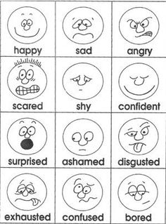 Emotions cards- Easy to draw!You can find Charts for classroom ideas and more on our website.Emotions cards- Easy to draw! Emotions Cards, Feelings And Emotions, Feelings Chart, English Activities, Preschool Activities, Emotions Preschool, Emotions Activities, English Lessons, Learn English
