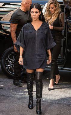 Kourtney Kardashian from Stars at New York Fashion Week Spring 2016 | E! Online