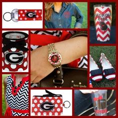 Go Dawgs! UGA Bulldogs for the Red & Black Game Day girls!