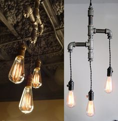 "Idea using Edison bulb for bathroom fixture in upstairs bathroom ??if I would go w/an ""antique"" feel in the mstr only"