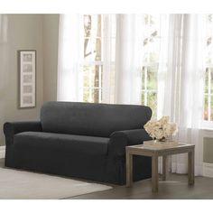 Leather Sleeper Sofa Maytex Conrad Stretch Fabric One piece Sofa Slipcover Overstock Shopping Big Discounts