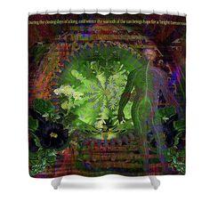 Solar Shower Curtain featuring the digital art Bright Tomorrow by Joseph Mosley