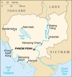 Political Map of Cambodia