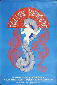Vintage Poster - Folies Bergere - Showgirl - Burlesque - Cabaret