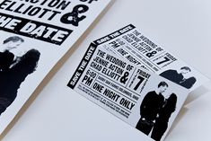 concert ticket save the dates - perfect for music lovers!