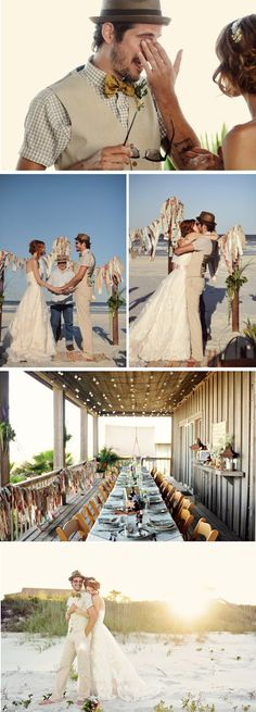 {Love Notes}. El blog de bodas de Vintage & Chic: {Una boda informal en una playa de Florida}