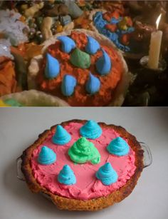 The colorful pie from the food fight in Hook!    Follow the blog on Facebook @ http://facebook.com/TheDessertStomach