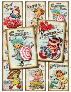 INSTANT DOWNLOAD, Retro-Vintage Music Girl Printables for Scrapbooking, Labels, Tags, Card Making...Altered Art, atc, aceo by TheVintageRemix on Etsy https://www.etsy.com/listing/185095304/instant-download-retro-vintage-music
