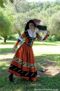 » Orange Landsknecht Faerie Queen Costuming