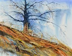 Standing Alone in Autumn Art print of my by NedasGallery on Etsy, $35.00