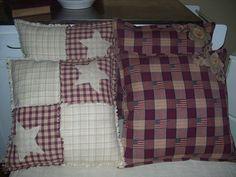 Primitive pillows I make.