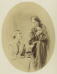 thevictorianlady:  Julia Jackson with her mother, Mia Jackson, c. 1867. Julia was the mother of Virginia Woolf and Vanessa Bell, which would make Mia their maternal grandmother. She was also the sister of Julia Margaret Cameron, the famous Victorian photographer.
