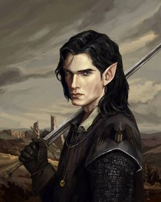 M elf ranger fighter rogue bard Dungeons And Dragons Characters, D D Characters, Fantasy Characters, Fantasy Portraits, Character Portraits, Character Art, Fantasy Male, Fantasy Rpg, Fantasy Inspiration