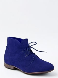 Breckelle's SANDY-61 Lace Up Flat Bootie -  i want this!!