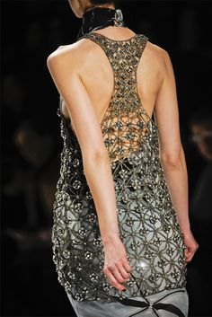 Vera Wang Fall 2012, the racer-back is complimentary and no wardrobe malfunctions. via Cindy Woolsey