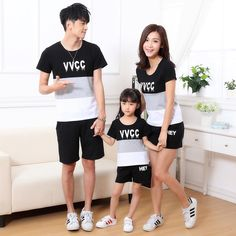 2017 summer kids clothing T-shirt Korean whole family mother-child  Short sleeve t-shirts  father Mother baby factory direct