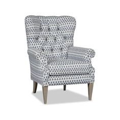 Sam Moore Ayla Wingback Chair Finish: Espresso, Upholstery: 2663 Linen