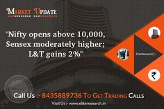 Nifty opens above 10,000, Sensex moderately higher; L&T gains 2%