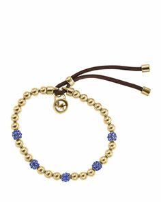 Michael Kors Beaded Fireball Bracelet, Sapphire/Gold.