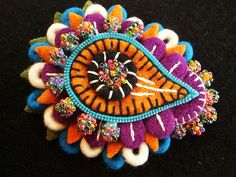 felt paisley brooch by woolly fabulous on Flickr