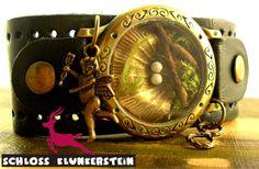 LIEBESNEST - Echtes Moos Terrarium Leder Armband von ♥ Schloss Klunkerstein ♥ Geschenke, Uhren, handgefertigter Unikat Schmuck, romantische Medaillons & Kettenuhren, Naturschmuck, nostalgische, antike & vintage Einzelstücke und seltene Schätze auf DaWanda.com