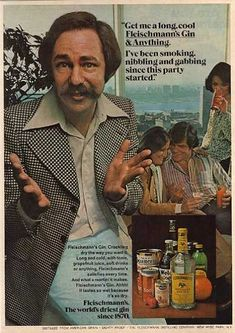 Please! Would someone do as the man says?    Fleischmann's Distilled Dry Gin (1977)