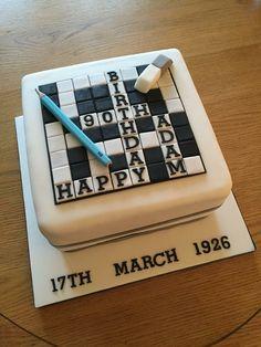 Crossword cake for 90th birthday.