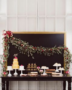 """""""The most beautiful dessert table thanks to the talented @urbanpalatela team! 