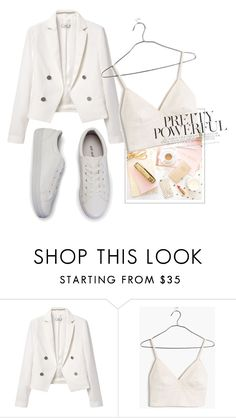 """Untitled #4164"" by mariaisabel701 ❤ liked on Polyvore featuring MANGO and Madewell"