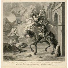 Don Quichotte conduit par la Folie et embrasé de l'amour extravagant de Dulcinée, Louis Surugue, ca. 1723–24