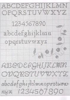Cross Stitch Alphabet Patterns, Cross Stitch Letters, Cross Stitch Boards, Cross Stitch Designs, Stitch Patterns, Graph Crochet, Crochet Cross, Cross Stitching, Cross Stitch Embroidery