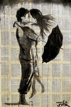"Saatchi Art Artist Loui Jover; Drawing, ""sun shower"" #art"