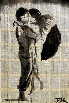 """Saatchi Online Artist Loui Jover; Drawing, """"sun shower"""" #art"""
