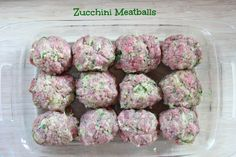 Meatballs with Zucchini ~ freezer friendly! | 5DollarDinners.com