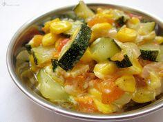 Dusena cuketa s kukuricou a syrom