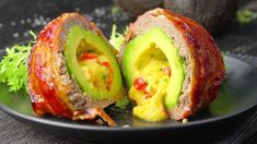 Bacon-Wrapped Avocado Bombs: Your New Favorite Keto Recipe Easy Bacon Recipes, Bacon Recipes For Dinner, Recipes Breakfast Video, Avocado Recipes, Healthy Breakfast Recipes, Healthy Dinner Recipes, Keto Recipes, Vegetarian Recipes, Vegetarian Bacon