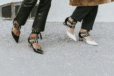 Sincerely Jules and Collage Vintage wearing shoes by Self-Portrait x Robert Clergerie in Paris…