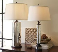 Parsons Antiqued Mirror Table Lamp Base #potterybarn