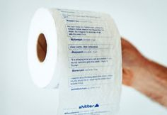 Apparently, there is some company that will print your twitter feed on toilet paper.
