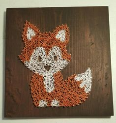 Fox string art by StringArtTreasures on Etsy