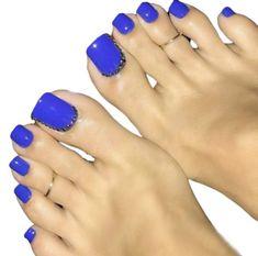 Blue Toe Nails, Pretty Toe Nails, Blue Toes, Toe Nail Color, Pretty Toes, Nail Colors, Gel Nails, Nail Nail, Beautiful Gorgeous