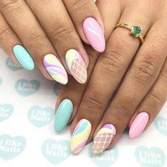 Abstract nail art, Beautiful nails to the sea, Cute pink and blue nails, Fashion nails Fishnet Nail Art Design Gallery, Best Nail Art Designs, Simple Nail Designs, Bright Nails, Blue Nails, Colorful Nails, Winter Nail Art, Winter Nails, Easy Nail Art