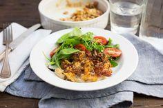 Krokante kabeljauw met salade - Koken met Aanbiedingen