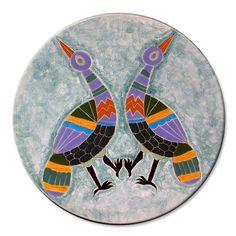 Pratos decorativos, azulejaria, faiança, louça, cerâmica artesanal decorativa | Ateliê LukaBrasil