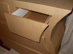 Suite de la commode en carton Instructions Do-it-yourself