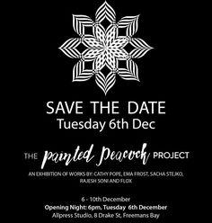YOU'RE INVITED! Save The Date for @thepaintedpeacockprojectnz exhibition on Dec 6th, 6pm at @allpressnz Studio, Auckland. This 'passion project' collab with my soul sisters @floxnz, @emafrostartist and @sacha_stejko_photography was about exploring our creativity and finding soul food outside the confines of 'business' ❤️❤️❤️ New works by all artists on show. Every purchase is a 20% donation towards Kidscan and Badi Primary in India. Look forward to seeing you there 💥✨💥 Official invite… Project S, Passion Project, Project Collaboration, Looking Forward To Seeing You, Soul Sisters, Youre Invited, New Words, Auckland, Soul Food
