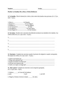 Printables Por Vs Para Worksheet spanish 1 semester midterm exam a well the verb and it is this quiz consists of 6 sections that assess students on their knowledge family vocabulary reflexive verbs por vs para