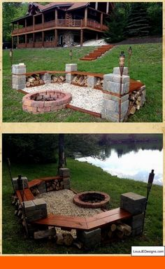 Fire Pit Design Idea For More Attractive – Best Outdoor Fire. Plus, we have plenty of ideas on how to craft an outdoor fire pit that suits your style, whether you're looking for a swanky setup for dinner parties. Fire Pit Area, Diy Fire Pit, Fire Pit Backyard, Garden Fire Pit, Fire Pit Gazebo, Make A Fire Pit, Fire Pit Seating, Fire Pit Table, Seating Areas