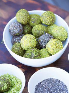 Matcha, Cashew Nut and Pistachio Bliss Balls | Healthy Recipes | MiNDFOOD