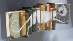 use our stencils to decorate book ends and display like this